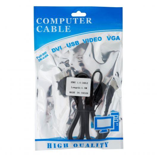 Купить CABLE HDMI-HDMI 1.4V FLAT 1.5M