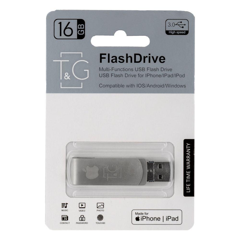 Купить USB OTG T&G 3&1 LIGHTNING&ANDROID 16GB METAL 007