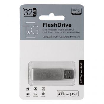 Купить USB OTG T&G 3&1 LIGHTNING & ANDROID 32GB METAL 007