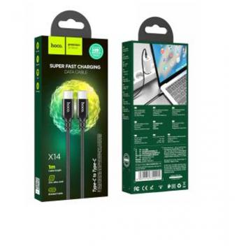 Купить USB HOCO X14 DOUBLE SPEED 60W TYPE-C TO TYPE-C