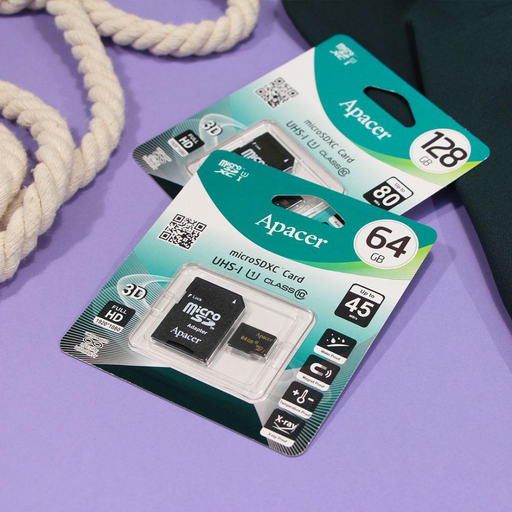 Купить КАРТА ПАМЯТИ APACER MICROSDXC 64GB 10 CLASS & ADAPTER_2