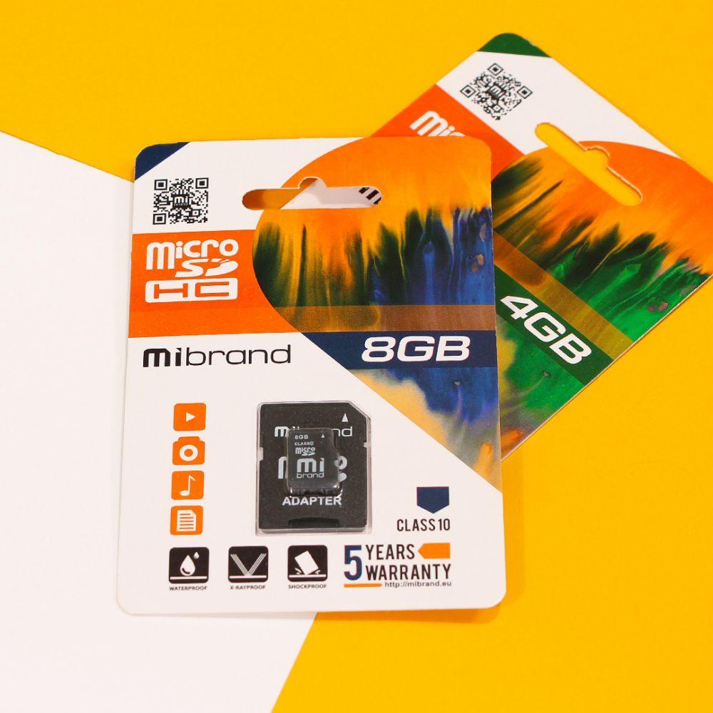 Купить КАРТА ПАМЯТИ MIBRAND MICROSDHC 8GB 10 CLASS & ADAPTER_2