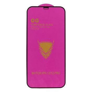 Купить ЗАЩИТНОЕ СТЕКЛО OG PURPLE TEMPERED GLASS PREMIUM PROTECTION FOR APPLE IPHONE 12 / 12 PRO БЕЗ УПАК.