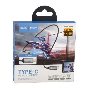 Купить ПЕРЕХОДНИК HOCO UA13 TYPE-C HDMI 1,8M
