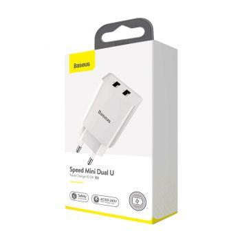 Купить СЕТЕВОЕ ЗАРЯДНОЕ УСТРОЙСТВО BASEUS 2 USB 10.5W 2A CCFS-R