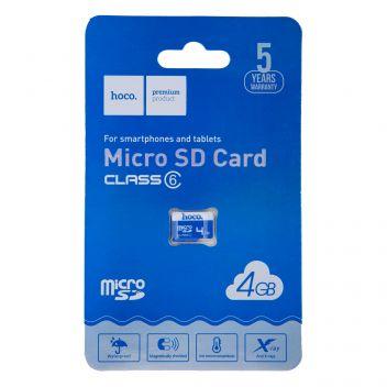 Купить КАРТА ПАМЯТИ HOCO MICROSD 4GB 6 CLASS