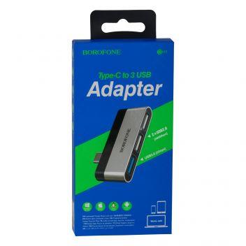 Купить ПЕРЕХОДНИК BOROFONE DH1 TYPE-C TO USB 3.0 / 2USB
